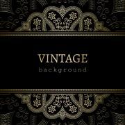 Link toGolden lace vintage background vector 01 free