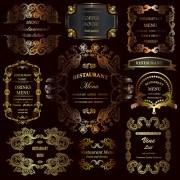 Link toGolden ornament labels with vintage frames vector 03