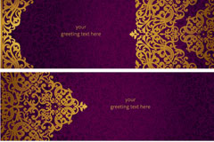 Link toGolden pattern banner design vector