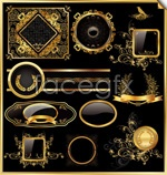 Link toGolden pattern borders 03 vector