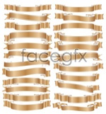 Link toGolden ribbon collection vector