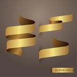 Link toGolden ribbon vector