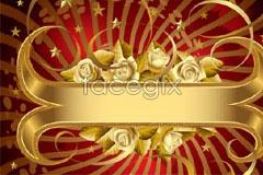 Link tovector background banner pop rose Golden