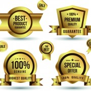 Link toGolden sale badges and label with stickers vector 01 free
