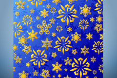 Link toGolden snow patterns card vector