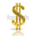 Link toGolden solid dollar sign psd