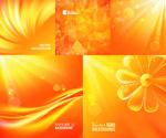 Link toGolden sunshine backgrounds vector