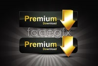 Link toGolden texture web page button vector