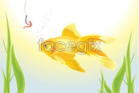 Link toGoldfish bait vector