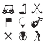 Link toGolf elements icon vector