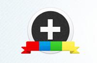 Link toGoogle plus(+) circular icon set psd