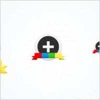 Google plus(+) circular icon set