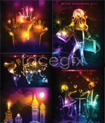 Link toGorgeous backdrop of neon lights vector