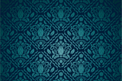 Link toGorgeous blue pattern vector