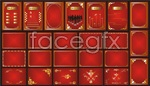 Link toGorgeous border red panels vector