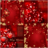 Link toGorgeous bright christmas background pattern vector
