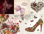 Link toGorgeous butterfly pattern vector