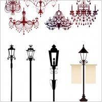 Link toGorgeous chandelier lights silhouette vector