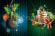 Link toGorgeous christmas ornament background vector