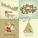 Link toGorgeous christmas patterns vector