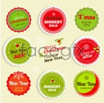 Link toGorgeous christmas stickers vector