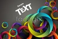 Gorgeous circle mix backgrounds vector