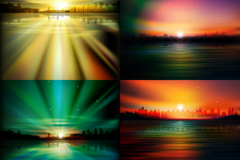 Link toGorgeous city sunrise vector illustration