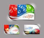 Gorgeous color christmas cards vector