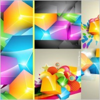 Link toGorgeous color cube background vector