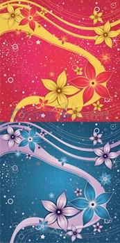 Link toGorgeous colorful floral background vector