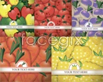 Gorgeous colorful vegetable background vector