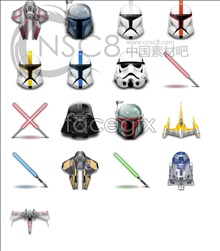 Link toGorgeous cool star wars movie icons
