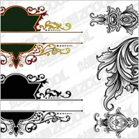 Link toGorgeous european-style classical pattern vector