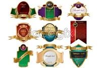 Link toGorgeous european-style crown labels vector art