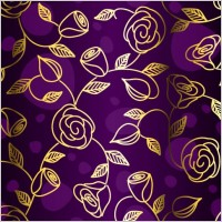 Link toGorgeous fabric pattern background vector 3