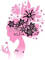 Link toGorgeous female silhouette vector