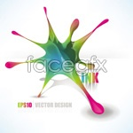 Link toGorgeous flowing pigments vector