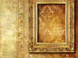 Link toGorgeous gold photo frames and ornate wallpaper background picture material
