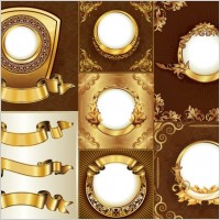 Link toGorgeous gold ribbon lace pattern vector