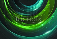 Link toGorgeous green glowing background vector ii