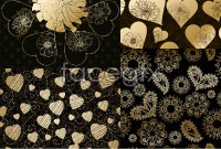Link toGorgeous heart-shaped pattern vector background