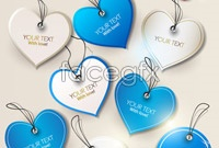 Gorgeous heart-shaped tags design vector