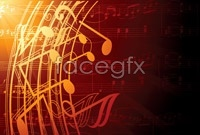 Link toGorgeous music background vector