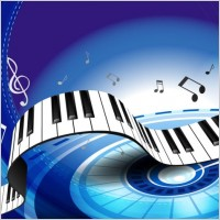 Link toGorgeous piano key background 04 vector