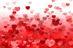 Link toGorgeous red love background vector