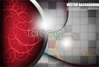 Link toGorgeous red mosaic background vector map