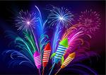 Link toGorgeous rocket fireworks vector