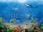 Link toGorgeous sea underwater world psd