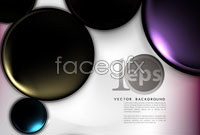 Link toGorgeous solid circle vector background
