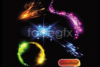 Gorgeous sparkling light effects, vector